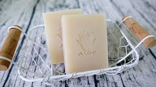 蘆薈洗顏皂DIY - how to make aloe vera handmade soap from scratch - 手工皂