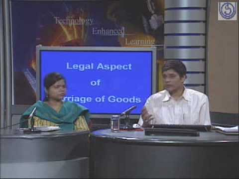 Legal Aspect of Carriage of Goods