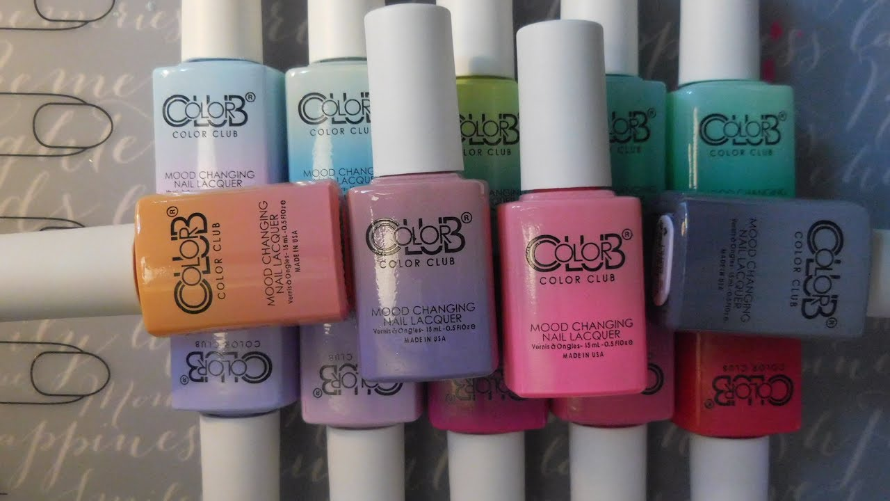 Color Club Mood Changing Polishes Youtube