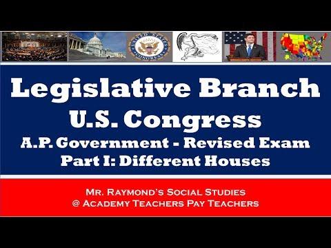 AP Government Redesigned Exam - Congress / Legislative Branch Part I