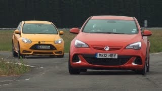 Ford Focus St Vs Vauxhall Opel Astra Vxr - Www.Autocar.Co.Uk
