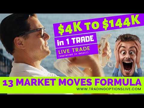 TRADING OPTIONS LIVE: $4K INTO $144K IN 1 TRADE USING 13 MARKET MOVES FORMULA