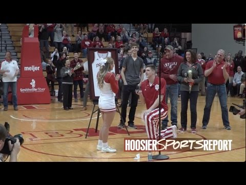 Hartman Steals The Show On Senior Night With Proposal Youtube