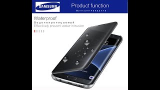 Чехол Samsung S7 Edge Clear Smart Cover