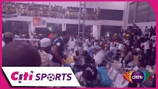 Chairs, bottles thrown in massive brawl at Bukom Boxing Arena