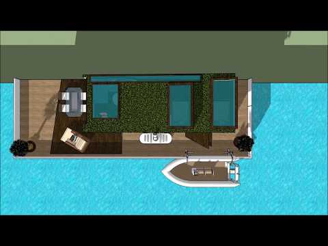 Modern houseboats in Amsterdam Netherlands NL DUTCH waterfront luxurious and spacious recreation hou