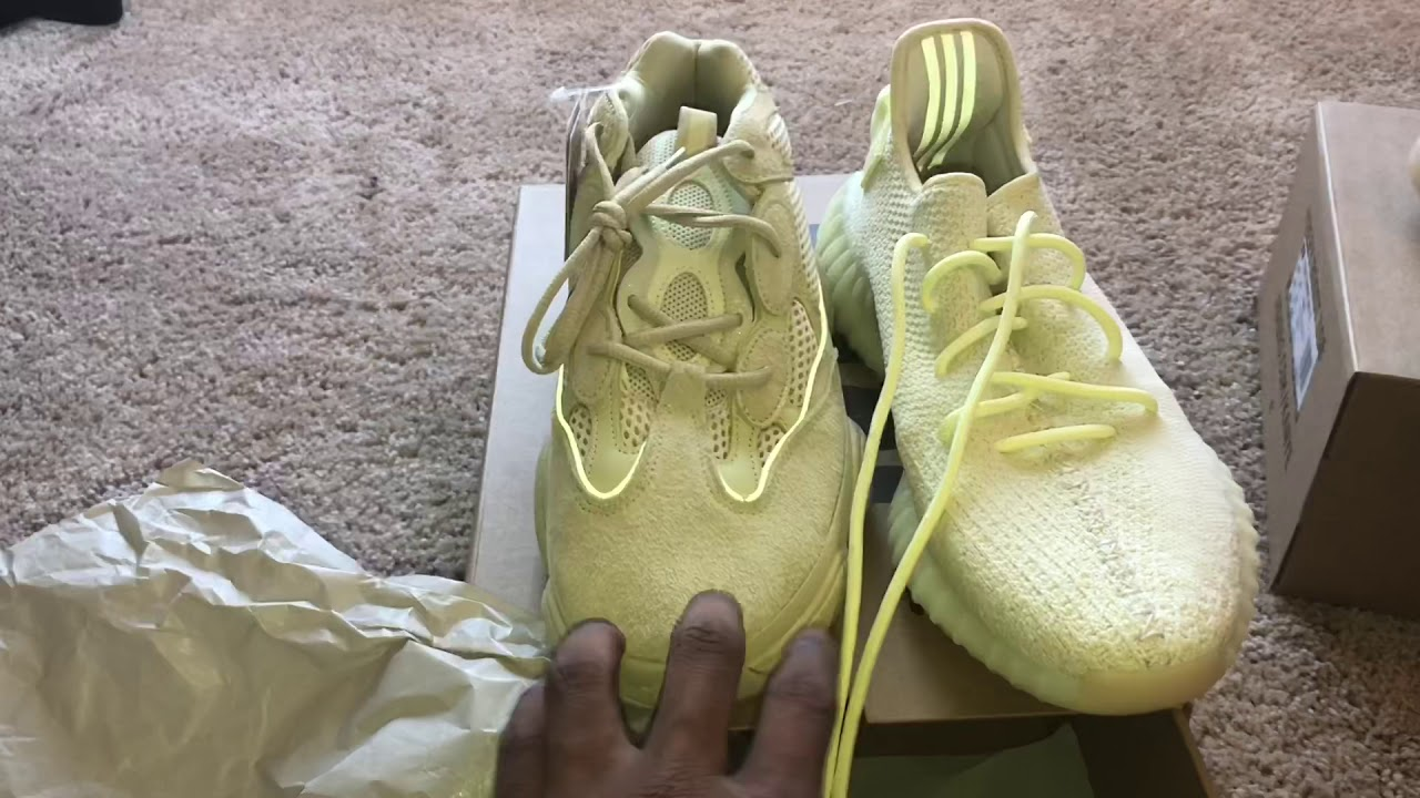 a12f24e95 Yeezy 350 V2 Butter early look and Yeezy 500 SuperMoon comparison ...