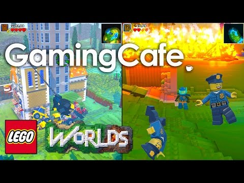 LEGO Worlds Let's Play Part 17 Split Screen, Dance Moves, Dino Tracker, Create Tool Tips, 1440p