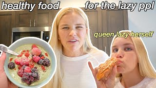 4 QUICK + EASY HEALTHY BREAKFAST IDEAS  how to eat and be healthy but lazy at the same time lol