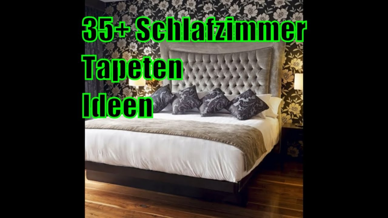 35 schlafzimmer tapeten ideen youtube. Black Bedroom Furniture Sets. Home Design Ideas