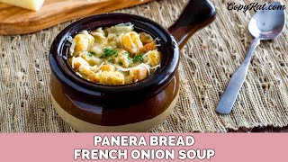 Panera Bread French Onion Bistro Soup