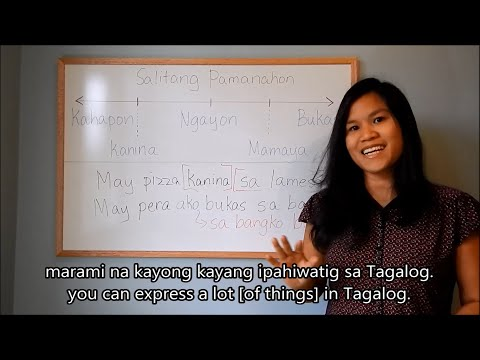 "Learn Tagalog (Filipino) Lesson 7: Using ""may"" as basic sentence structure, English sub"