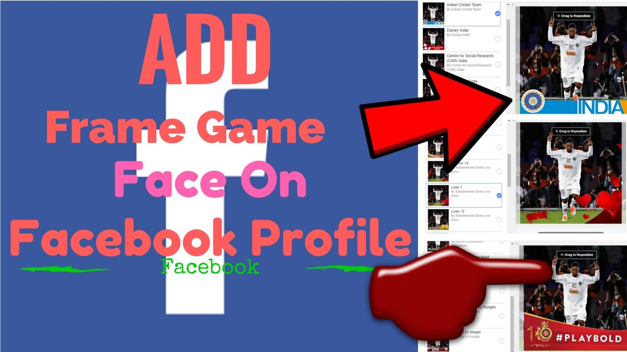 How to add frame game face on facebook profile youtube how to add frame game face on facebook profile jeuxipadfo Gallery