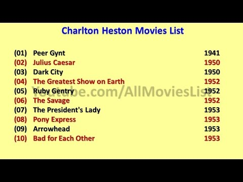 Charlton Heston Movies List