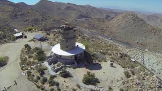 Desert View Tower Jacumba seen with GoPro 3 and Quadcopter FPV