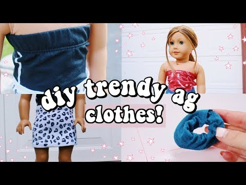 DIY TRENDY AG CLOTHES! (scrunchie, Top, Skirt & More!)