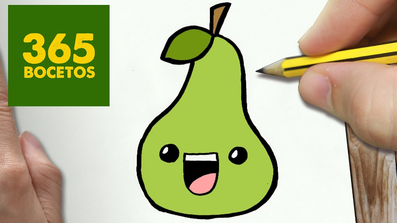 COMO DIBUJAR PERA KAWAII PASO A PASO - Dibujos kawaii faciles - How ...