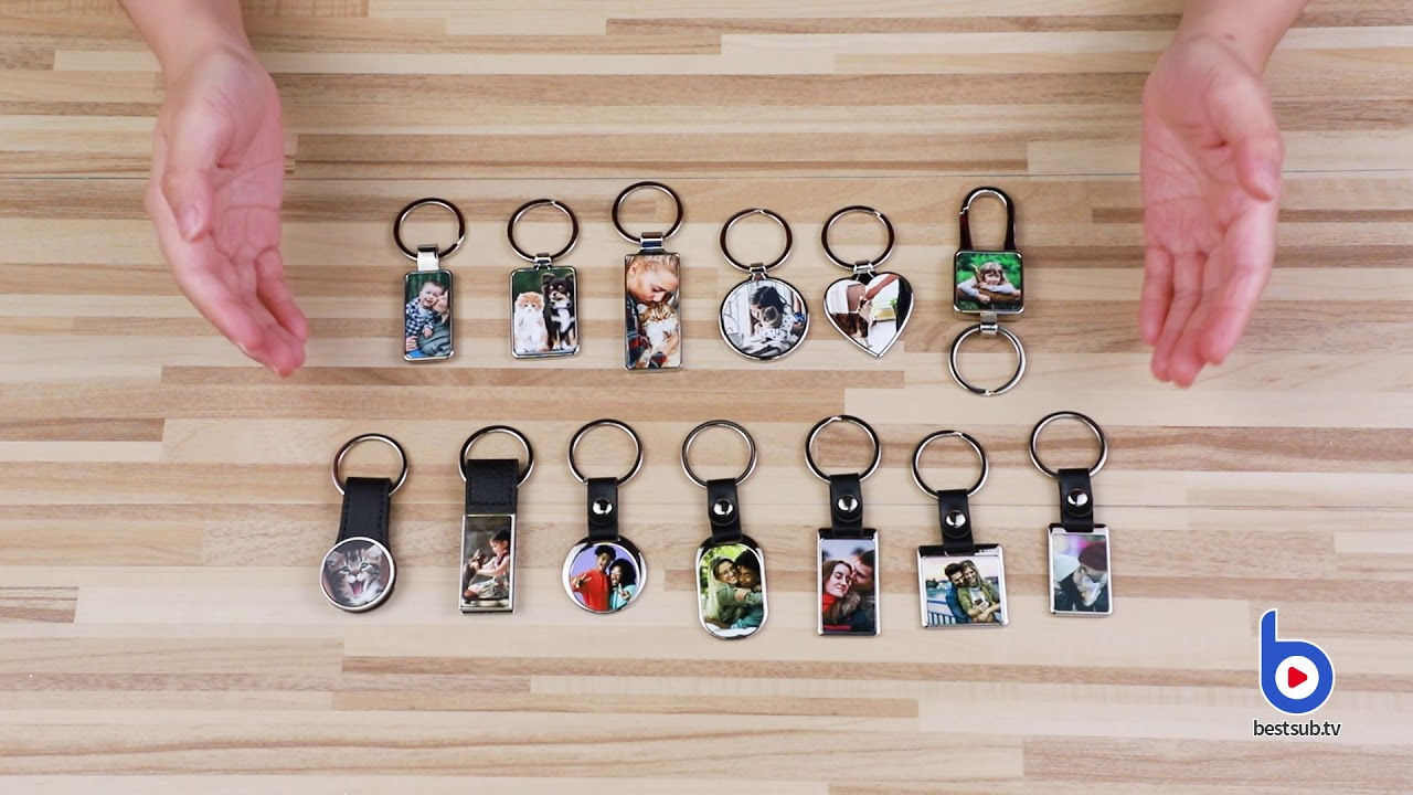 Check BestSub NEW sublimation personalized photo keychains!