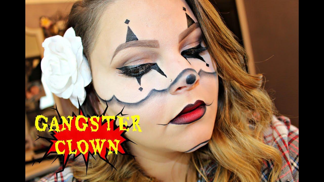Chrisspy\'s Gangster Clown Halloween Makeup   My Tutorial! - YouTube