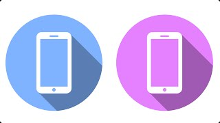 Smartphone Flat Icon Vector Graphic - Inkscape Tutorial for Beginners