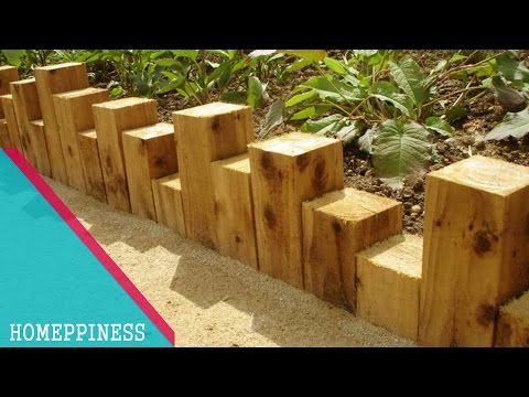 (MUST WATCH) With These Wood Garden Edging Ideas Your Garden Will Be Perfect