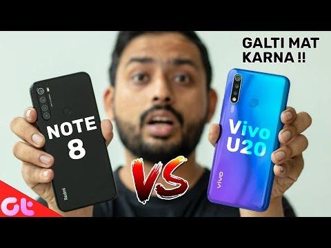 Vivo U20 Vs Redmi Note 8 Full Comparison With Camera And Gaming   GALTI MAT KARNA   GT Hindi