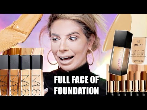 FULL FACE USING ONLY FOUNDATION | OMG..