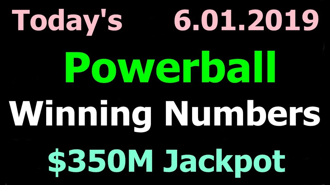 Today Powerball Winning Numbers 1 June 2019 Powerball Drawing