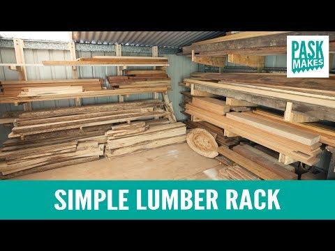 Simple Lumber Rack