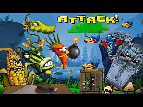 Мультик игра для детей про зомби - Растения против Зомби [3]