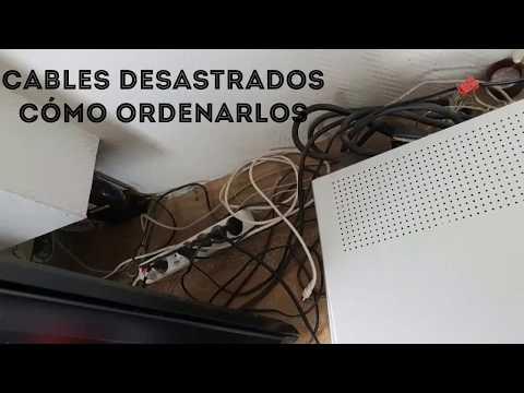Cómo ordenar los cables de detrás de la televisión. Fácil, práctico, rápido y barato!!!