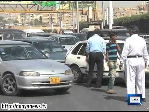 Dunya News - Traffic Jam in Karachi due to Vip movement