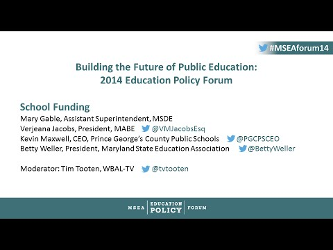 2014 Education Policy Forum: School Funding