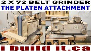 Making A 2 X 72 Belt Grinder - The Platen Attachment