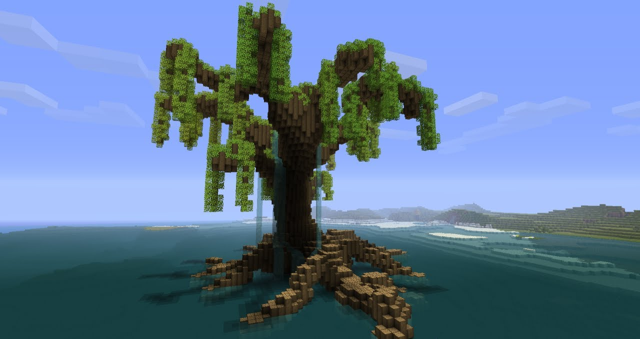 Minecraft God Trees Tutorial Draping Tree Youtube