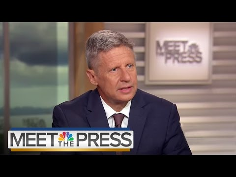 Gary Johnson On His Long Shot Third Party Candidacy (Full Interview) | Meet The Press | NBC News