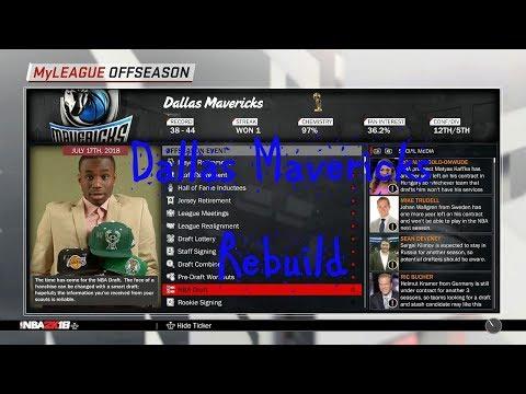 NBA 2K18 Dallas Mavericks Rebuild