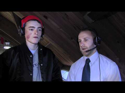 """Jay """"Hoops"""" Hooper interviewing coach Rob Hutchison"""