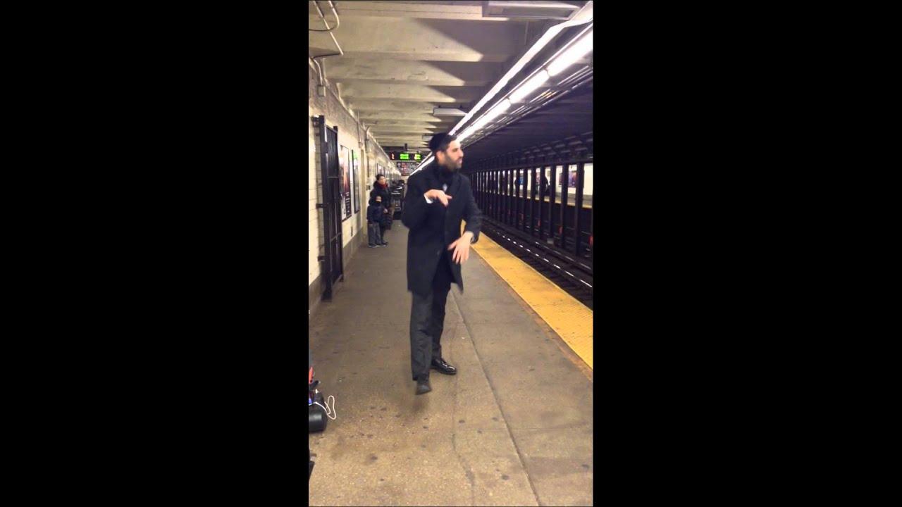 Chanukah light filming in Manhattan