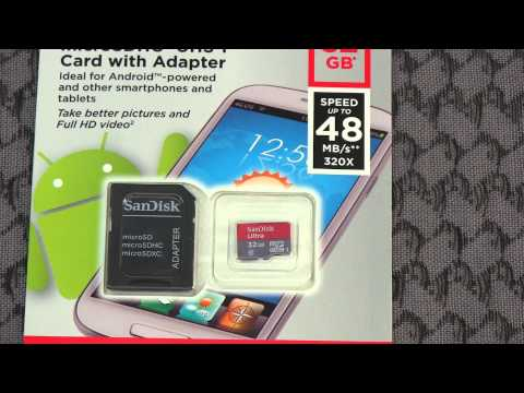 SanDisk Ultra 32gb microSDHC UHS-I Card With Adapter