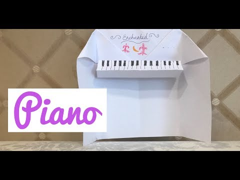 How to do piano origami! Make a paper piano.