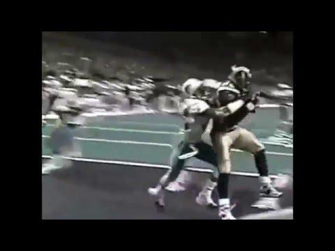 Kurt Warner to Marshall Faulk (Dolphins vs Rams 2001)