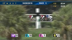 Gulfstream Park West October 20, 2019 Race 1