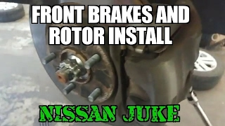 Front brake pad install Nissan juke