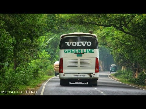 Green Line Volvo HUNTING ENA Hino Ak1J at Dhaka - Sylhet highway | Travel Experiences |