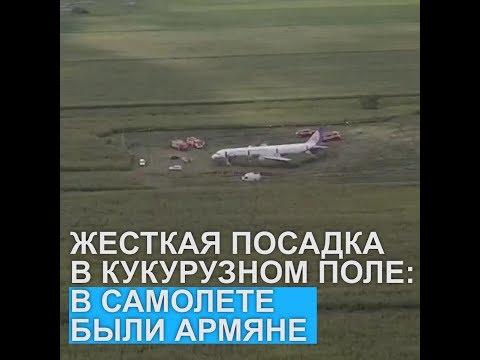 На Борту самолета, совершившего экстренную посадку в Подмосковье, были армяне