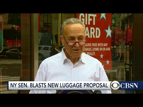 Senator Schumer blasts proposed carry-on restrictions