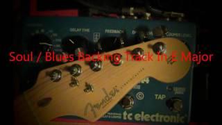 John Mayer Style Backing Track - Soul / Blues in E major