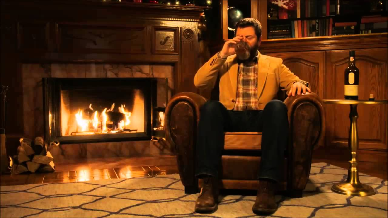 [10 HOURS] Ron Swanson Drinking Lagavulin by fire - YouTube