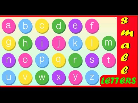 learn english alphabets-pre school- learn english words for kids-small  letters